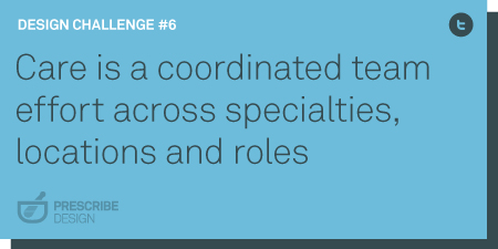 Care is a coordinated team effort across specialties, locations and roles